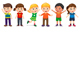 Children in Different Positions - GraphicRiver Item for Sale