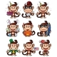 Monkey Holiday Set - GraphicRiver Item for Sale