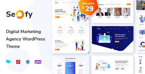Seofy - Digital Marketing Agency WordPress Theme