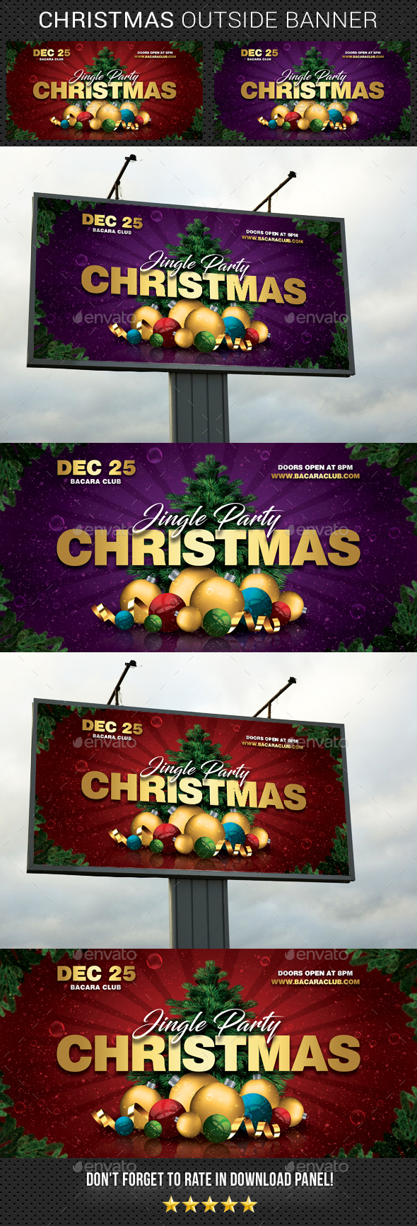 Christmas Outdoor Banner - Signage Print Templates