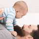Newborn baby son with his happy father - PhotoDune Item for Sale
