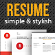 Resumes Template with Simple and Stylish style  - GraphicRiver Item for Sale
