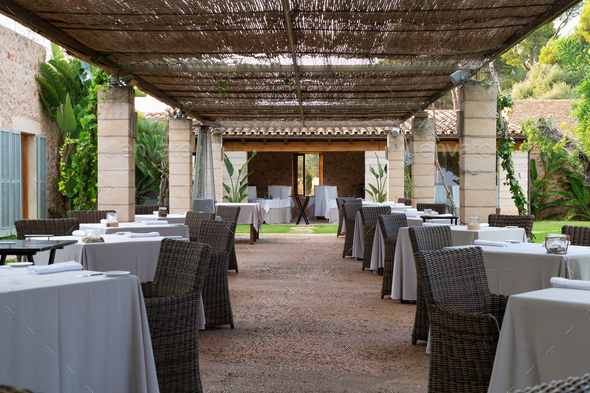 restaurant on the lawn - Stock Photo - Images
