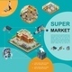 Isometric Modern Supermarket Template - GraphicRiver Item for Sale