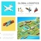 Isometric Global Logistics Infographic Concept - GraphicRiver Item for Sale