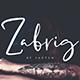 Zabrig Script Font - GraphicRiver Item for Sale