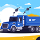 Flat Loaded Dump Truck with Sand - GraphicRiver Item for Sale