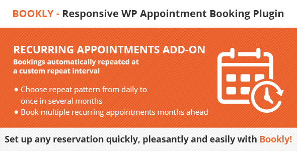 Bookly Recurring Appointments (Add-on) - CodeCanyon Item for Sale