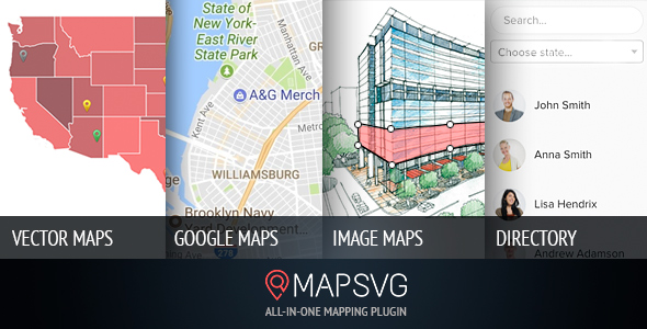 MapSVG: Interactive Vector maps / Image maps / Google maps - WordPress plugin Nulled