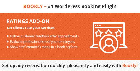 Bookly Ratings (Add-on) - CodeCanyon Item for Sale