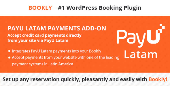 Bookly PayU Latam (Add-on) - CodeCanyon Item for Sale