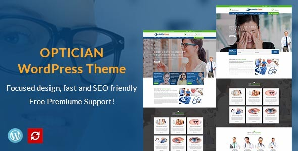 VisionBox - Optometrist & Eye Care WordPress Theme