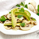 Salad of avocado and champignons on table - PhotoDune Item for Sale