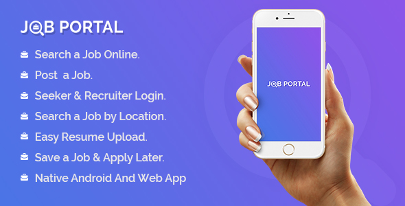 Job Portal Mobile Application With Web Portal - CodeCanyon Item for Sale