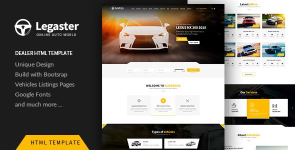 Legaster - Automotive HTML Template - Retail Site Templates