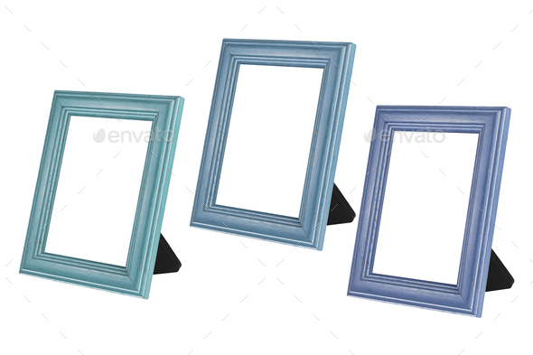 Blank Wooden Photo Frames - Stock Photo - Images