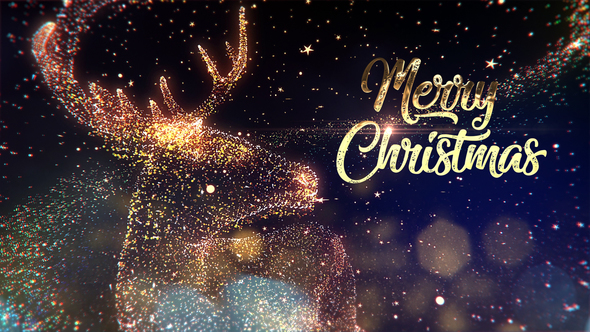 3D designed Christmas opener for TV, Web and Social media projects - Particle Design After Effects Full HD Video - Particle Christmas