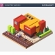 Isometric Vector Illustration of a Supermarket - GraphicRiver Item for Sale