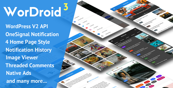 WorDroid - Full Native WordPress Blog App - CodeCanyon Item for Sale