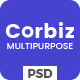 Free Download Corbiz - Multipurpose Business Consulting PSD Template Nulled