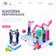 Success Concept Isometric Clip Art - GraphicRiver Item for Sale