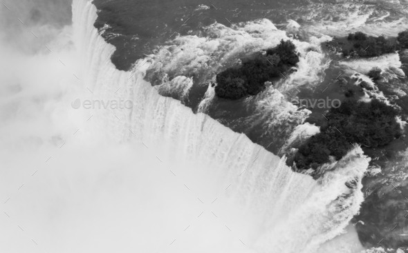The Niagara River Cuts through the United States and Canada in New York - Stock Photo - Images