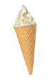 Soft ice cream in wafer cone isolated - PhotoDune Item for Sale