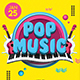Pop Music Flyer Template - GraphicRiver Item for Sale