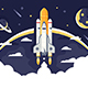 Space Shuttle Takes Off - GraphicRiver Item for Sale