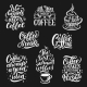 Coffee Cup and Beans Vector Lettering - GraphicRiver Item for Sale