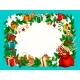 Christmas Holiday Frame with Blank Space - GraphicRiver Item for Sale