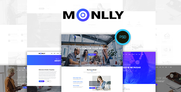 Monlly - Multi-Purpose PSD Template - PSD Templates