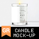 Candle Mock-up - GraphicRiver Item for Sale