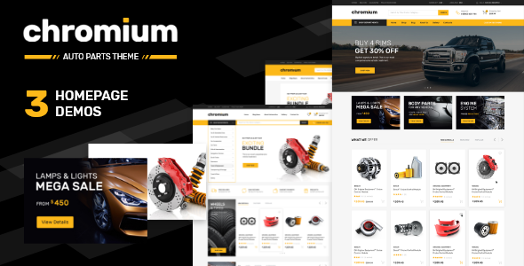 Chromium — Auto Parts Shop Shopify Theme