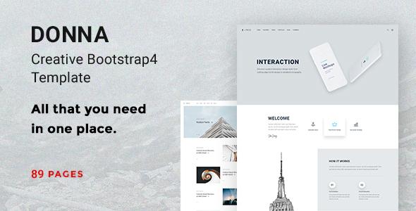 Donna - Creative Bootstrap 4 Template