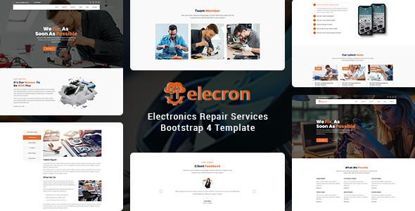 Elecron - Electronics Repair Services Bootstrap 4 Template