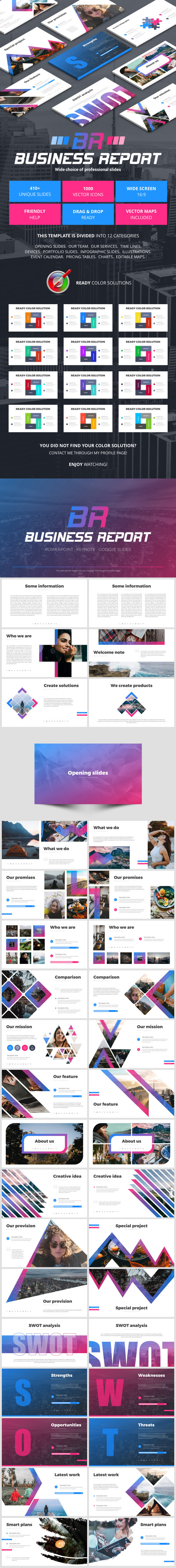 Business Report - Business PowerPoint Templates