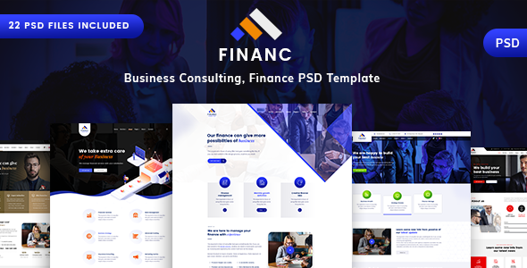 Finance - Business & Consulting PSD