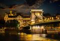 Illumination of Chain Bridge - PhotoDune Item for Sale