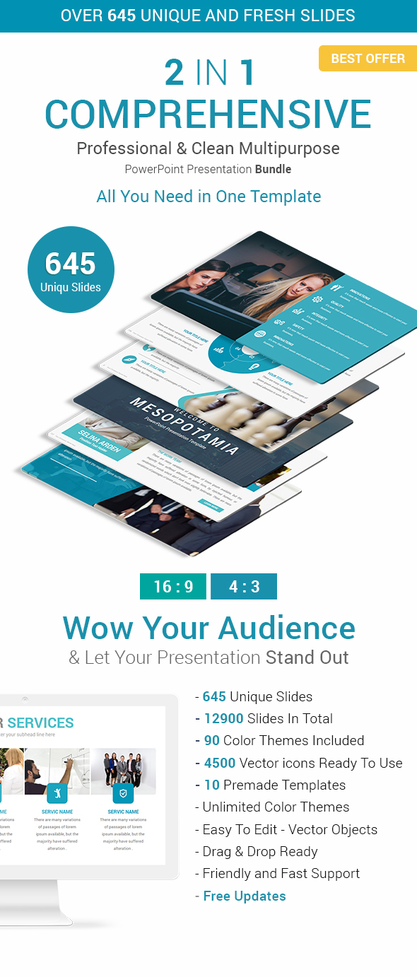 Comprehensive Business Solutions - 2 In 1 PowerPoint Presentation Template Bundle - Business PowerPoint Templates