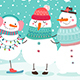 Snowmen Hugging - GraphicRiver Item for Sale