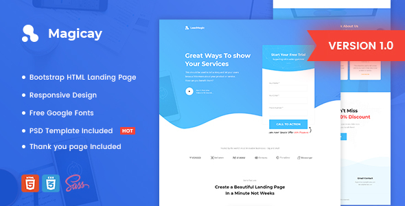 Magicay - Business HTML Landing Page Template