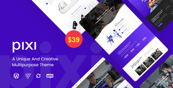 Pixi - Creative Multi-Purpose WordPress Theme - Creative WordPress