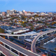 Static Shot Over Highways and Downtown City Skyline Wilmington Delaware - PhotoDune Item for Sale