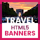 Travel & Vacation Animated HTML5 Banner Templates (GWD) - CodeCanyon Item for Sale