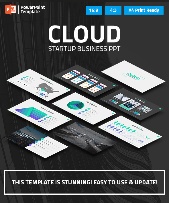 Cloud - Startup Business PPT Pitch Deck - Business PowerPoint Templates