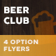 Beer Club / Pub Flyers – 4 Options - GraphicRiver Item for Sale