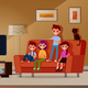 Kids Watching TV - GraphicRiver Item for Sale