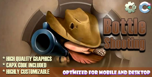 Bottle Shooting - (C2/C3/HTML5) Game. - CodeCanyon Item for Sale