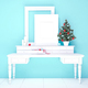 Mock up poster and christmas tree on a dresser - PhotoDune Item for Sale